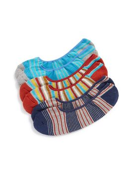 campground-stripe-organic-cotton-blend-no-show-socks by pact
