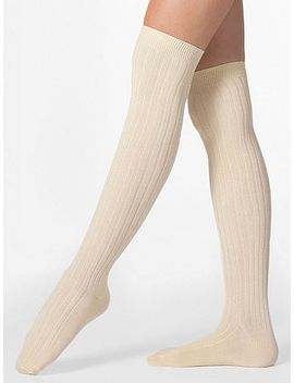 ribbed-modal-over-the-knee-sock by american-apparel