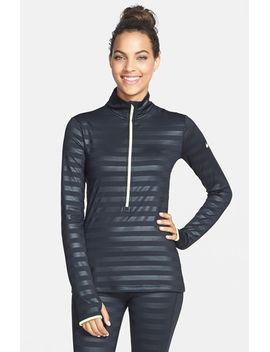 pro-hyperwarm-embossed-stripe-half-zip-top by nike