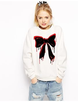 love-moschino-sweatshirt-with-dripping-bow-print by love-moschino