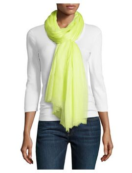 cashmere-oversize-scarf,-chartreuse by todd-and-duncan