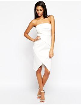 asos-fold-bandeau-asymmetric-dress by asos-collection