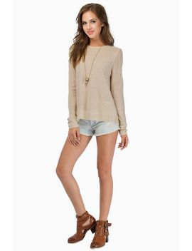 beige-long-sleeve-split-back-sweater by sheinside