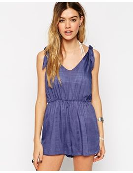 asos-tie-shoulder-beach-playsuit by asos-collection