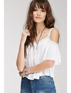 lace-trimmed-off-the-shoulder-top by forever-21