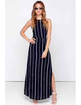 faithfull-the-brand-cherry-blues-navy-blue-striped-maxi-dress by faithfull-the-brand