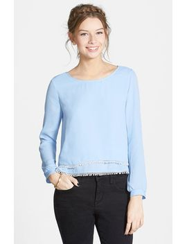 double-layer-top-with-pompom-detail by lush