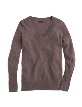 italian-cashmere-v-neck-sweater by jcrew