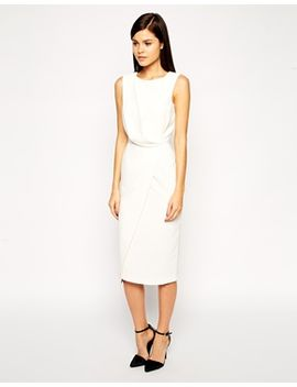 asos-pencil-dress-with-drape-and-asymmetrical-wrap by asos-collection
