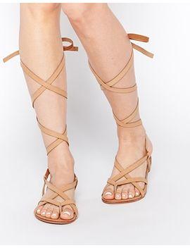 glamorous-tan-strap-flat-gladiator-sandals by glamorous
