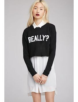 really-cropped-sweatshirt by forever-21