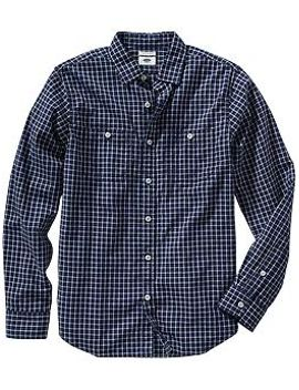 mens-slim-fit-plaid-button-front-shirts by old-navy