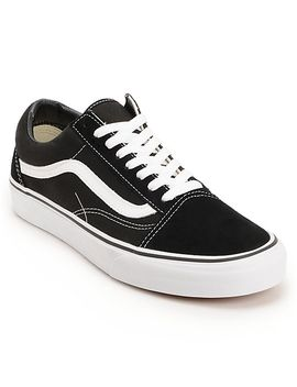 vans-old-skool-black-&-white-skate-shoes by vans