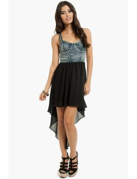 selena-black-denim-shift-dress by tobi
