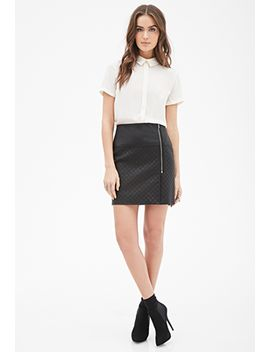 contemporary-quilted-faux-leather-skirt by forever-21