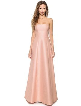strapless-jacquard-gown by halston-heritage