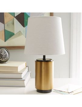 small-pillar-table-lamp---antique-brass by west-elm