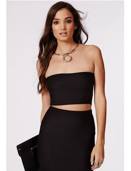 ella-bandage-bandeau-bralet-black by missguided