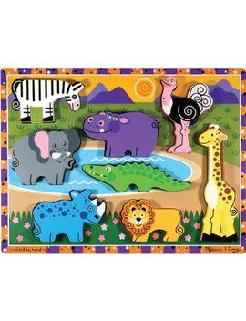 melissa-&-doug-safari-wooden-chunky-puzzle-(8-pcs) by melissa-&-doug
