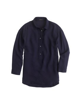 drapey-oxford-crepe-popover-shirt by jcrew