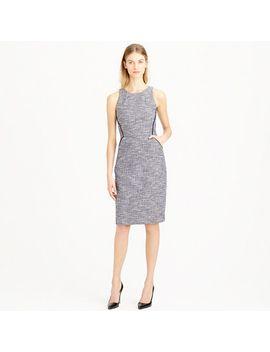 tipped-tweed-sleeveless-dress by jcrew
