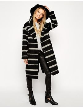 asos-coat-in-brushed-stripe by asos-collection