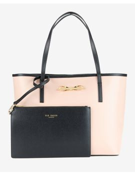 crosshatch-leather-shopper by ted-baker