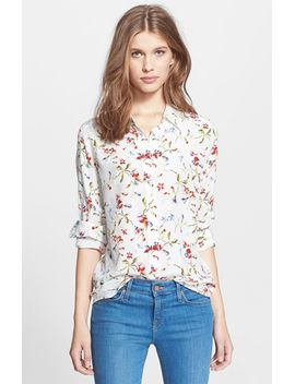 brett-floral-print-silk-blouse by equipment