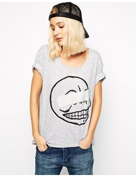 cheap-monday-skull-t-shirt-with-tape-detail by cheap-monday