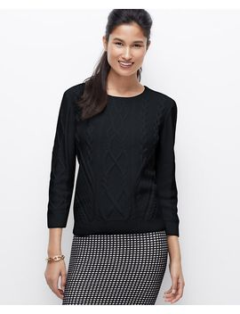 petite-cable-sweater by ann-taylor