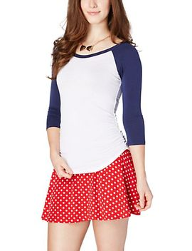 ruched-side-raglan-top by rue21