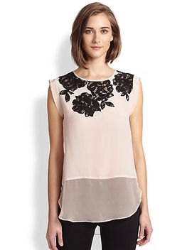 floral-lace-top by rebecca-taylor