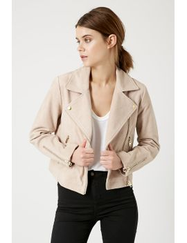 suede-boxy-biker-jacket by topshop