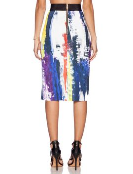 printed-pencil-skirt by milly