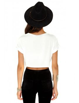 milanna-oversized-crop-top-in-white by missguided
