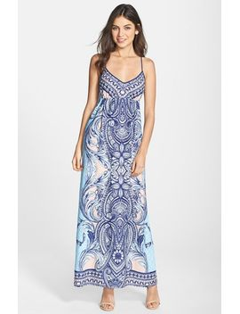 wilma-print-woven-maxi-dress by greylin