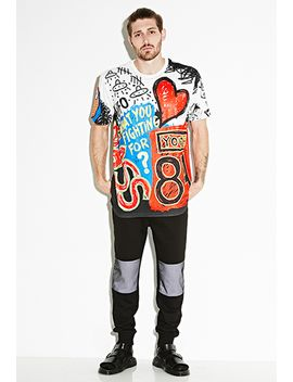 bass-graffiti-inspired-tee by forever-21
