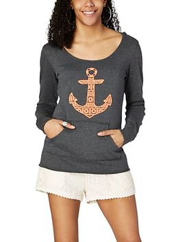 crochet-anchor-scoop-neck-hoodie by rue21