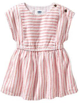 striped-linen-blend-dresses-for-baby by old-navy