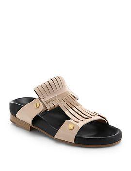 leather-fringe-birk-sandals by chloé