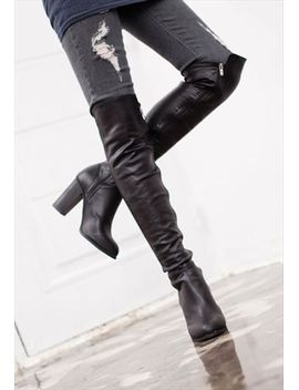 over-the-knee--warp-boots by no-brand-name