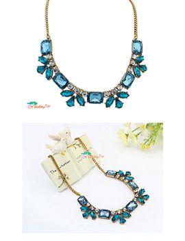 blue-rhinestone-statement-necklace---jewellery_-jewelry,-sapphire,-blue-topaz-necklace by bobbytin