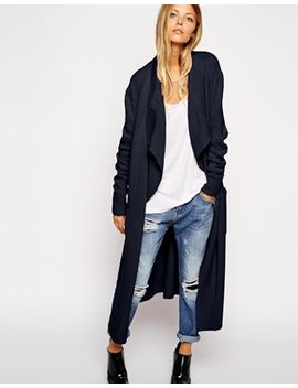 asos-longline-waterfall-cardigan-in-brushed-knit by asos-collection