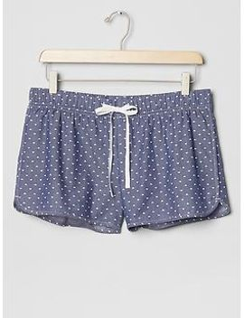 printed-chambray-shorts by gap