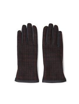 plaid-faux-leather-gloves by forever-21