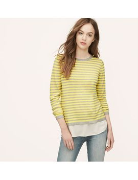striped-two-in-one-sweater by loft