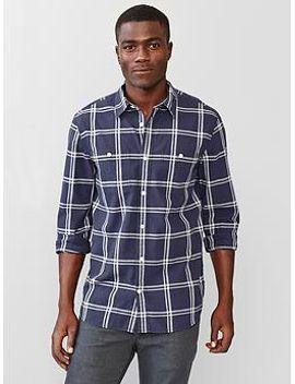uniform-windowpane-plaid-shirt by gap