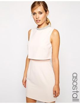 asos-tall-–-kleid-mit-verziertem-stehkragen by asos-collection
