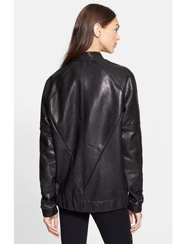 theo-oversize-leather-bomber-jacket by veda