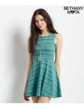 circle-back-geo-dress by aeropostale